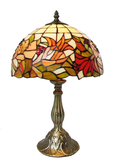 12 Inch Floral Tiffany Table Lamp