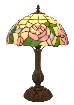 Round 12 inch mackintosh rose table lamp for 12 inch table lamp