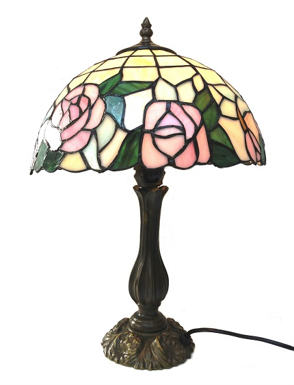 Round 12 Inch Mackintosh Rose Table Lamp