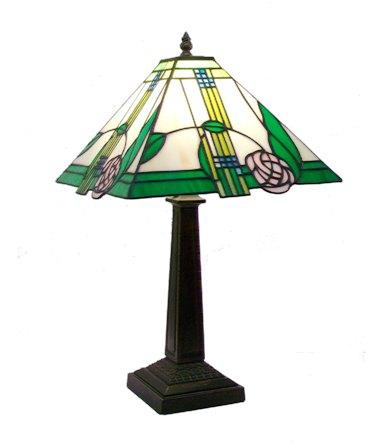 Medium Mackintosh design leaded glass Table Lamp