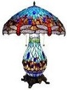 King Size Blue Dragonfly Umbrella Lamp