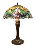 Elegant 17 inch floral leaf design table lamp