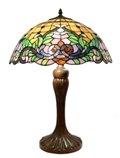 Elegant 17 inch floral leaf design table lamp