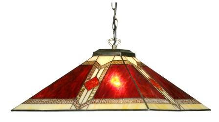 Classic 18 Inch Red and Cream Art Deco Shade