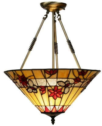 17 inch Tiffany Butterfly suspended shade