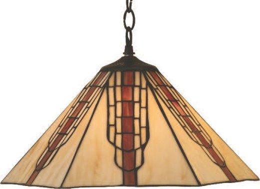 16 inch Octagonal cream glass ceiling light.