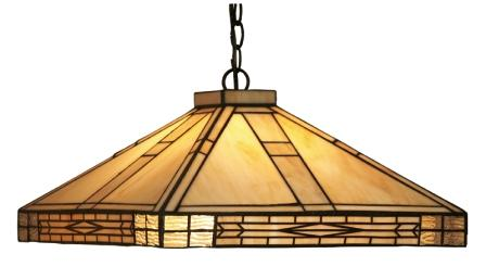 Large Art Deco design square ceiling shade