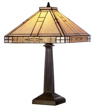 12 inch cream Art Deco design Table Lamp