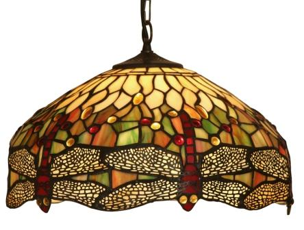 16 Inch Tiffany Dragonfly Pendant Light
