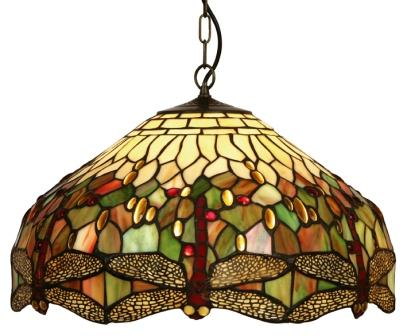 Large Tiffany Dragonfly Ceiling Shade - click for details
