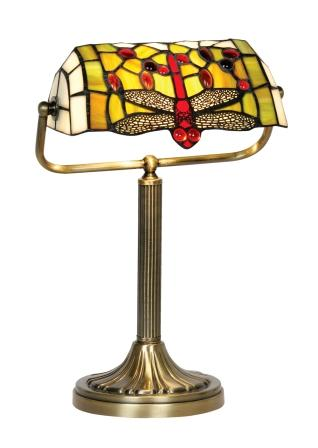 Dragonfly Bankers Table Lamp