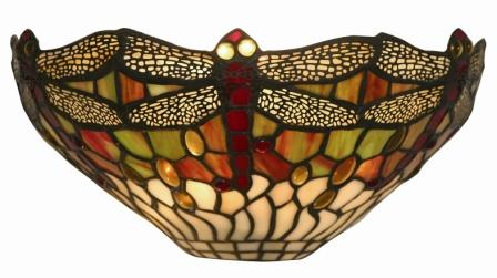 12 Inch Tiffany Dragonfly Wall Light