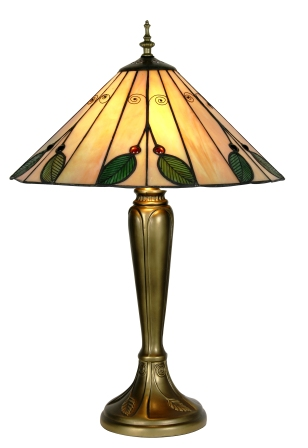 16 Inch Green Leaf Tiffany Table Lamp