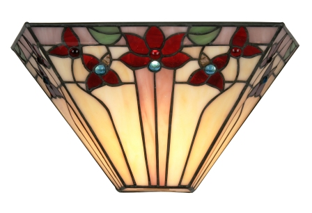 Square Floral Tiffany Wall Light