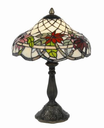 12 inch Poinsettia floral table lamp
