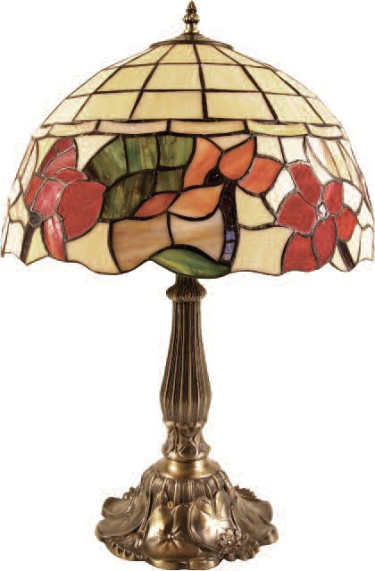 Large 16 Inch Floral Table Lamp