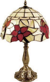 Small 8 Inch Floral Table Lamp