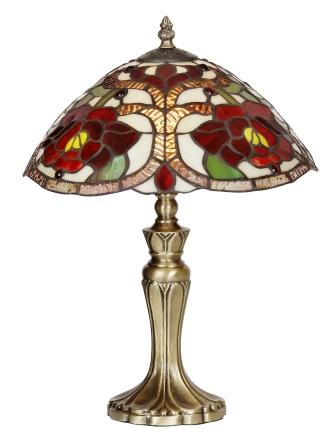 Elegant 12 inch Tiffany Rose design Table Lamp