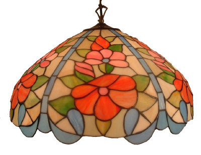 20 Inch Floral pendant light