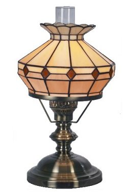 10 Inch Beige/Brown Oil Style Table Lamp