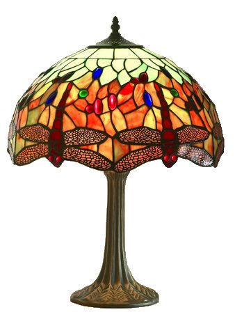 Medium Dragonfly Tiffany Table Lamp - click for details