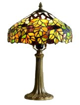12 inch Maple Leaf design Tiffany table lamp