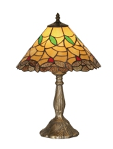 13 Inch Gold Edge Table Lamp