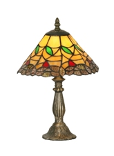 9 Inch Gold Edge Table Lamp