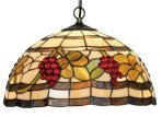 Classic 16 inch Tiffany Grape design Pendant Shade