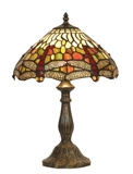 12 Inch Tiffany Dragonfly Table Lamp