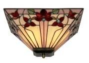 Square Floral Tiffany Suspended Shade